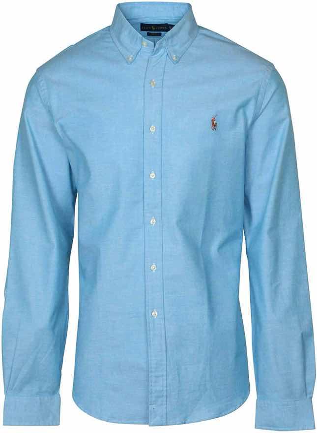 Men's Long Sleeve Slim Fit Stretch Oxford Button-down Shirt