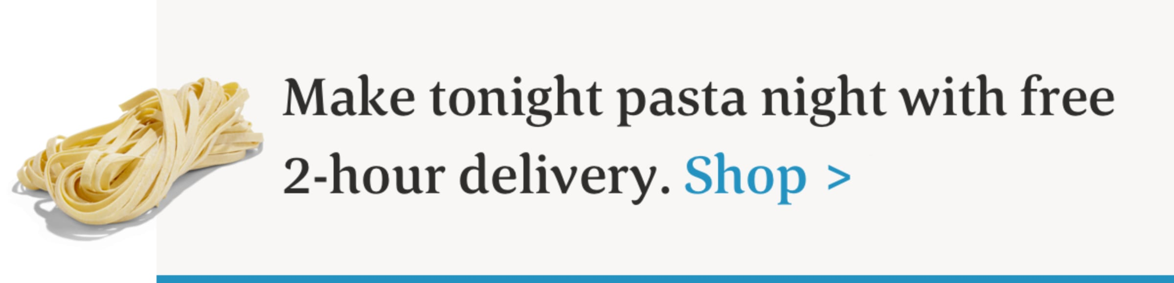 2-hour pasta delivery